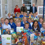 A fantastic donation of food from St Michael's School, Kingsteignton