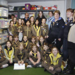 5th Newton Abbot Brownies visited HITS in February 2016
