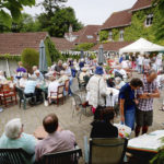 Full to capacity: Bovey Tracey House Courtyard.